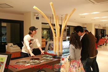 seoul tower ice-cream