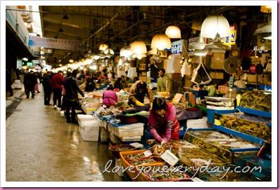 ตลาดปลานอร์ยังจิน@กรุงโซลเกาหลี