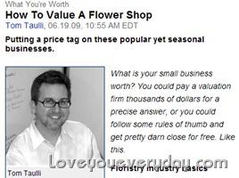 ธุรกิจร้านดอกไม้ในสหรัฐ